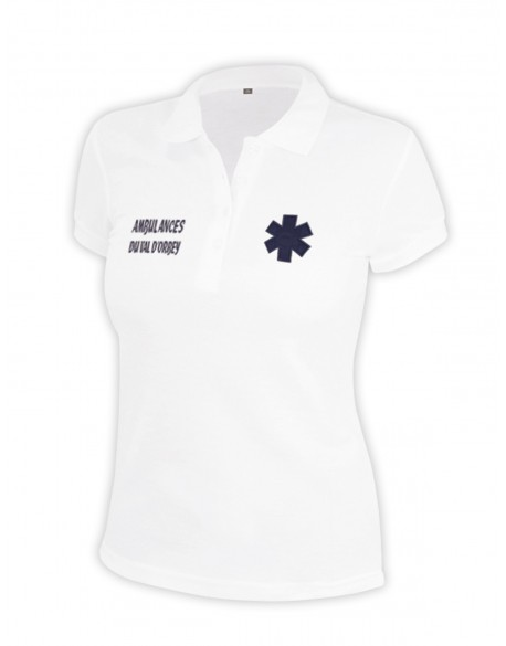 Polo ambulanciere blanc