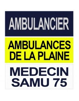Dossard SAMU SMUR personnalisable - B40058
