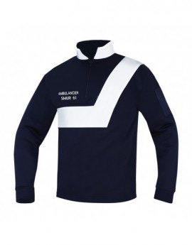 SWEAT AMBULANCE MARINE/BLANC - DESTOCKAGE ANCIEN MODELE