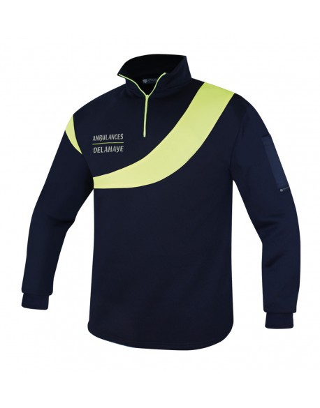 SWEAT AMBULANCE EVOLUTION MARINE/J.FLUO- DESTOCKAGE ANCIEN MODELE