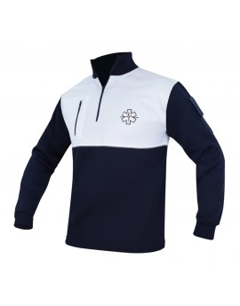 SWEAT REFLECT DEPERLANT MARINE/BLANC - DESTOCKAGE
