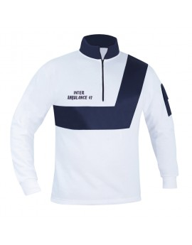 SWEAT AMBULANCE BLANC/MARINE - DESTOCKAGE ANCIEN MODELE