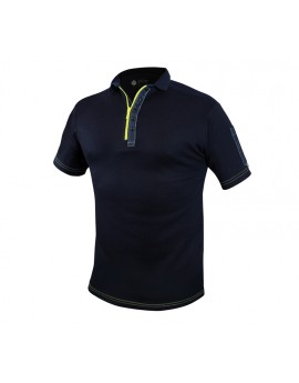 POLO ULTIMATE MARINE/ JAUNE FLUO 260 gr - DESTOCKAGE