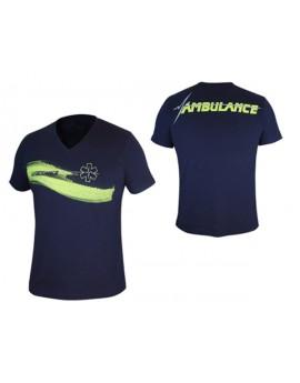 Tee-Shirt Life One Marine/Jaune fluo