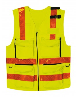GILET D'INTERVENTION SMUR HV EN471 - ISO 20471 - GIL0015
