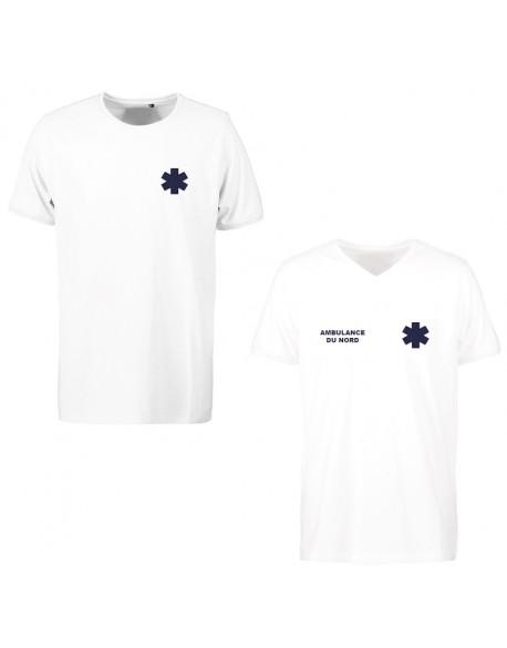 Tee-shirt SAMU iso 15797 homme blanc