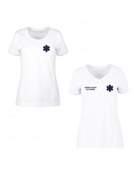 Tee-shirt ECO PROWEAR iso 15797 femme blanc - TEE1002-TEE1012