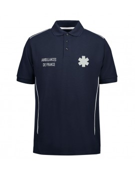 POLO PROWEAR PIPPING ISO15797 MARINE HOMME - POL1021