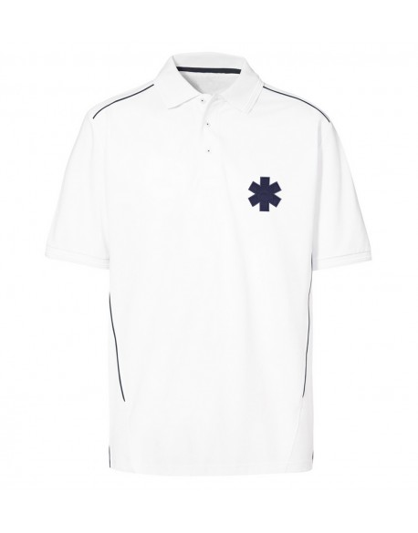 POLO PROWEAR PIPPING ISO15797 BLANC HOMME - POL1021