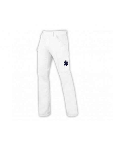 Pantalon d'intervention ambulancier blanc