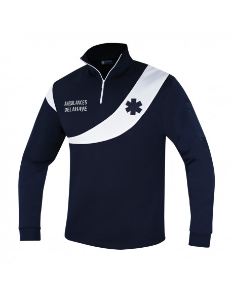 Sweat AMBULANCE Évolution Marine/Blanc