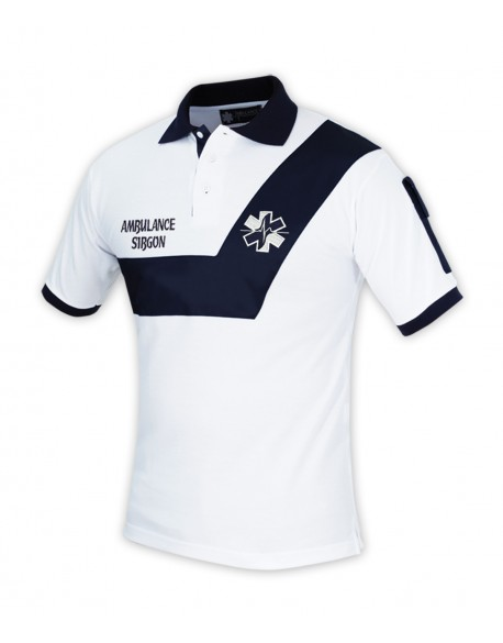 Polo AMBULANCE Origin' Blanc/Marine