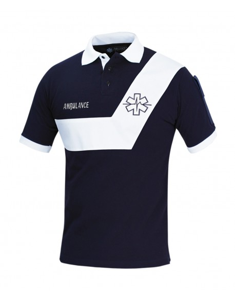 Polo AMBULANCE Origin' Marine/Blanc