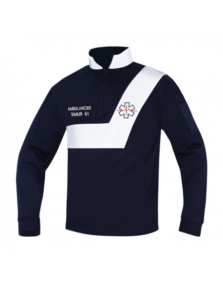 Sweat AMBULANCE Origin' Marine/Blanc