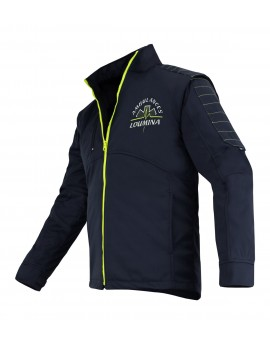 Blouson technique 3 en 1 ULTIMATE marine/jaune fluo - A119390