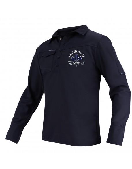 Polo-shirt ANTI-BACTÉRIEN IP manches longues
